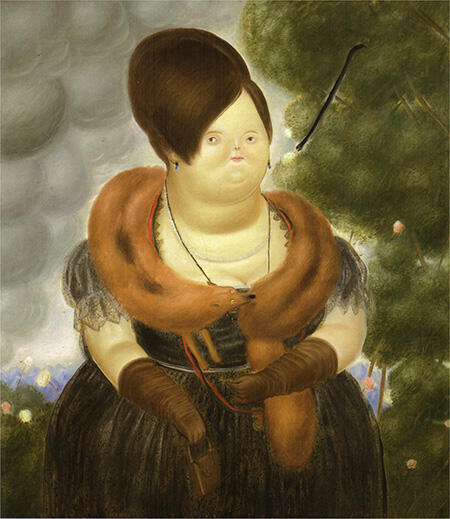 The First Lady 1969 By Fernando Botero - Oil Paintings & Art Reproductions - Reproduction Gallery