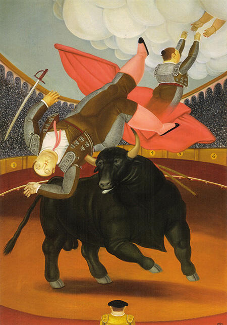 The Death of Luis Chalet 1984 By Fernando Botero - Oil Paintings & Art Reproductions - Reproduction Gallery