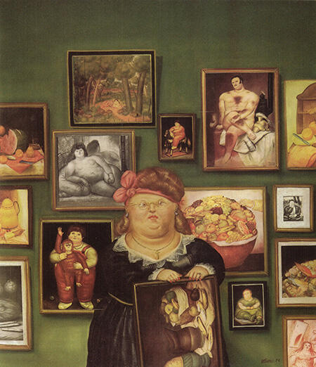 The Collector 1974 By Fernando Botero - Oil Paintings & Art Reproductions - Reproduction Gallery
