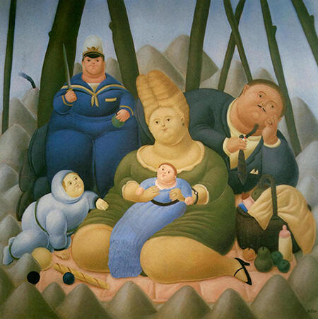 Sunday Afternoon 1967 By Fernando Botero - Oil Paintings & Art Reproductions - Reproduction Gallery