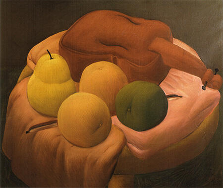 Still Life with Violin 1965 By Fernando Botero - Oil Paintings & Art Reproductions - Reproduction Gallery