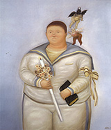 Self Portrait on the Day of First Communion 1970 By Fernando Botero
