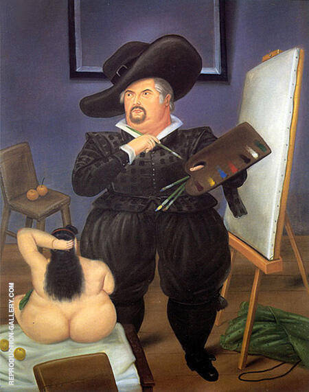 Self Portrait in the Costume of Velazquez 1986 By Fernando Botero - Oil Paintings & Art Reproductions - Reproduction Gallery