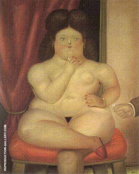 Seated Woman 1976 By Fernando Botero - Oil Paintings & Art Reproductions - Reproduction Gallery