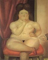 Seated Woman 1976 By Fernando Botero