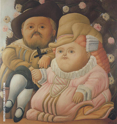 Rubens and his Wife 1965 By Fernando Botero - Oil Paintings & Art Reproductions - Reproduction Gallery