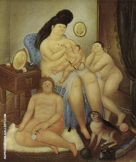 Protestant Family 1969 By Fernando Botero - Oil Paintings & Art Reproductions - Reproduction Gallery