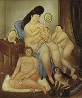 Protestant Family 1969 By Fernando Botero