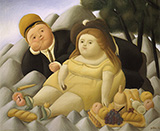Picnic in The Mountains 1966 By Fernando Botero