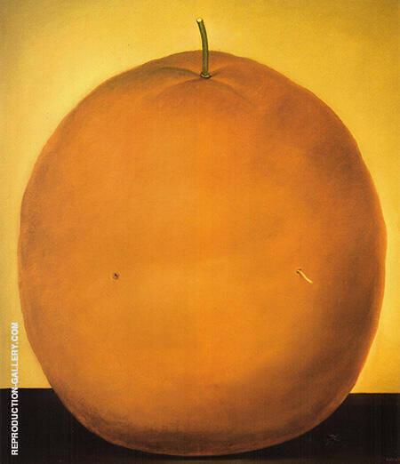 Orange 1977 By Fernando Botero