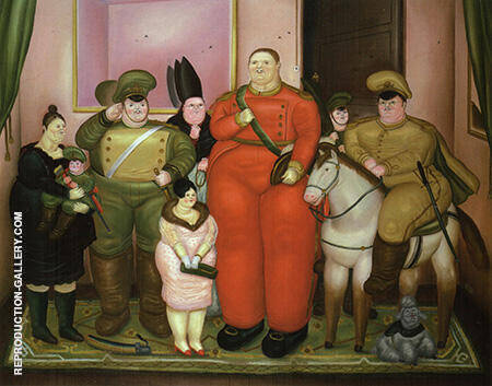 Official Portrait of the Military Junta 1971 By Fernando Botero - Oil Paintings & Art Reproductions - Reproduction Gallery