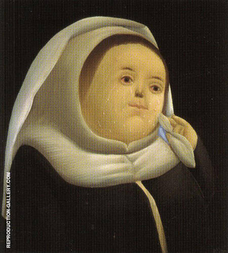 Prioress Mother Superior 1966 By Fernando Botero - Oil Paintings & Art Reproductions - Reproduction Gallery