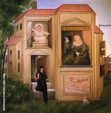 Man Who Went to the Office 1969 By Fernando Botero