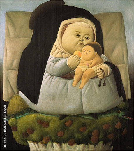 Madonna and Child 1965 By Fernando Botero