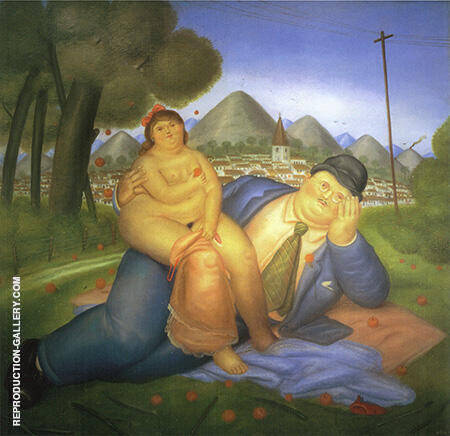Loving Couple 1973 By Fernando Botero