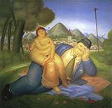 Loving Couple 1973 By Fernando Botero