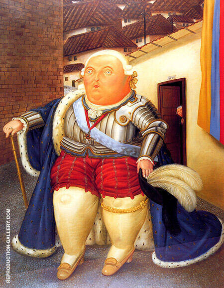 Louis XVI Visiting Medellin Colombia 1990 By Fernando Botero - Oil Paintings & Art Reproductions - Reproduction Gallery
