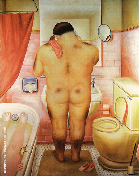 Reproduction of Homage to Bonnard 1973 by Fernando Botero | Oil Painting Replica On CanvasReproduction Gallery