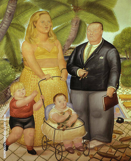 Frank Lloyd and his Family on Paradise Island 1972 By Fernando Botero