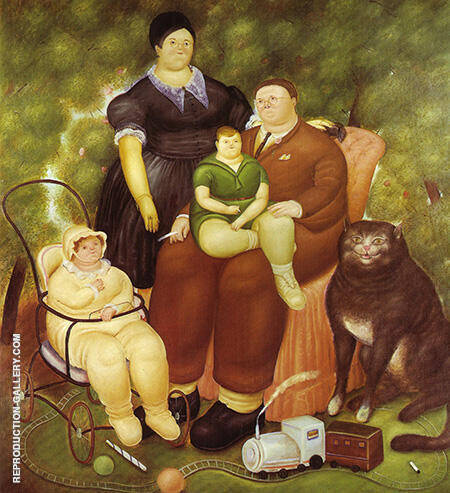 Family Scene 1969 By Fernando Botero - Oil Paintings & Art Reproductions - Reproduction Gallery