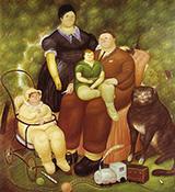 Family Scene 1969 By Fernando Botero
