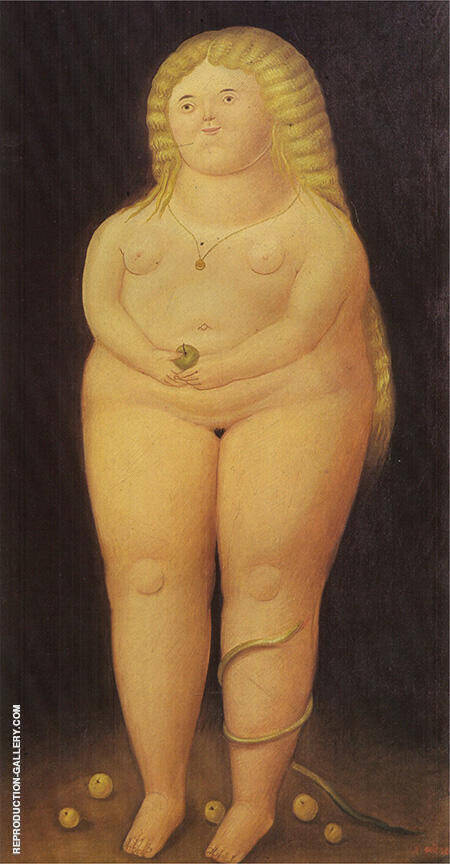 Botero Eve 1938 By Fernando Botero - Oil Paintings & Art Reproductions - Reproduction Gallery