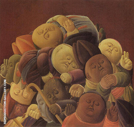 Dead Bishops 1965 By Fernando Botero - Oil Paintings & Art Reproductions - Reproduction Gallery