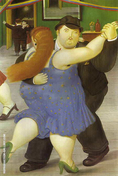 Dancers 1987 By Fernando Botero - Oil Paintings & Art Reproductions - Reproduction Gallery