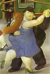 Dancers 1987 By Fernando Botero