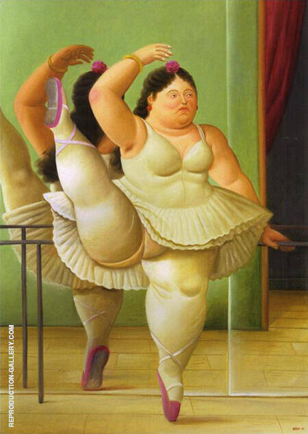 Dancer at the Pole 2001 Painting By Fernando Botero - Reproduction Gallery