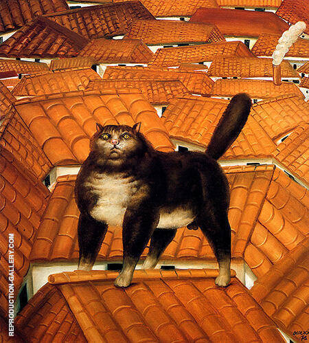 Cat on the Roof 1978 By Fernando Botero