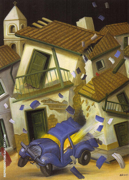 Car bomb 1999 By Fernando Botero - Oil Paintings & Art Reproductions - Reproduction Gallery