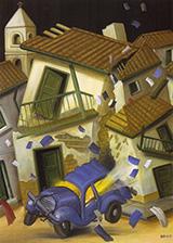 Car bomb 1999 By Fernando Botero