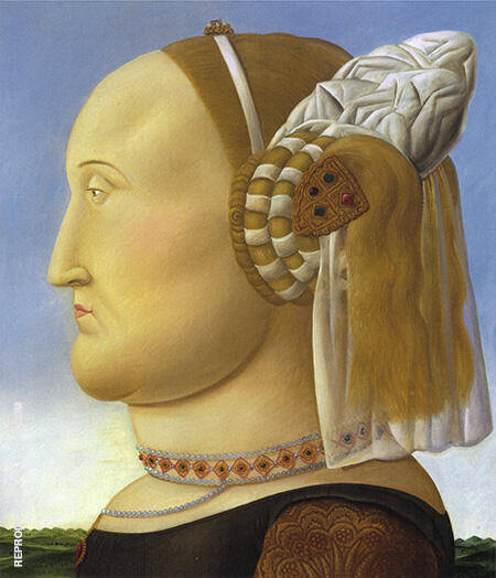 Battista Sforza 1998 By Fernando Botero