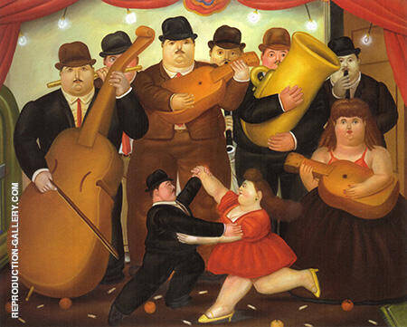Dance in Colombia 1980 By Fernando Botero - Oil Paintings & Art Reproductions - Reproduction Gallery