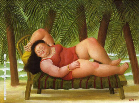 Bather on the Beach 2001 By Fernando Botero