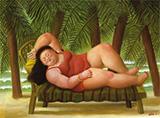 Bather on the Beach 2001 By Fernando Botero