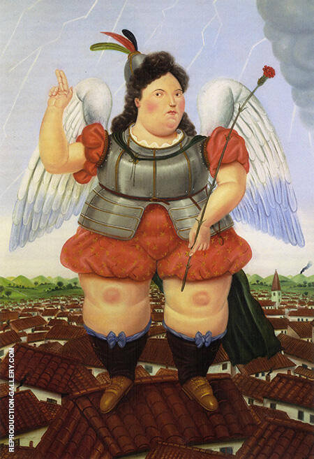 Reproduction of Archangel 1986 by Fernando Botero | Oil Painting Replica On CanvasReproduction Gallery