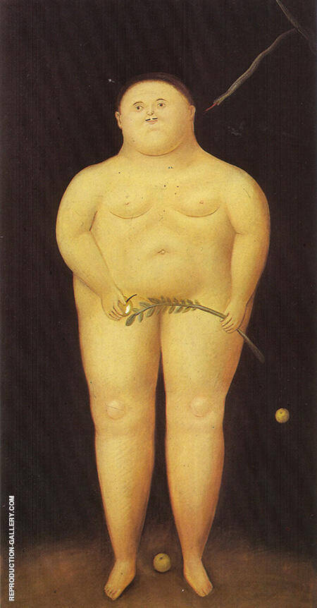 Adam 1968 By Fernando Botero - Oil Paintings & Art Reproductions - Reproduction Gallery
