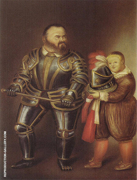Alof de Vignancourt 1974 By Fernando Botero - Oil Paintings & Art Reproductions - Reproduction Gallery