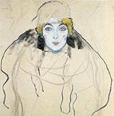 Womans Head 1917 By Gustav Klimt