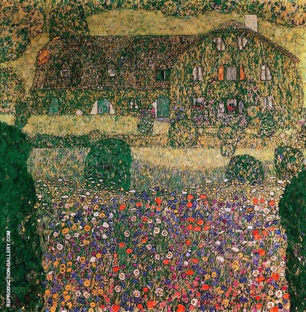 Villa on the Attersee 1914 By Gustav Klimt