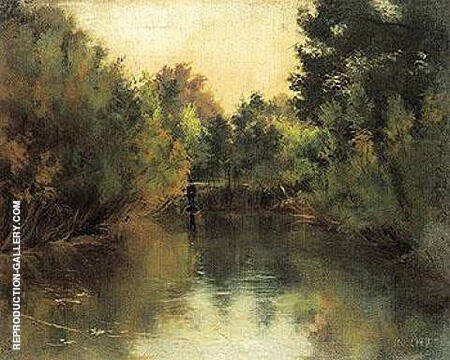 Secluded Pond 1881 By Gustav Klimt - Oil Paintings & Art Reproductions - Reproduction Gallery