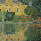 Schloss Kammer on the Attersee IV 1910 By Gustav Klimt