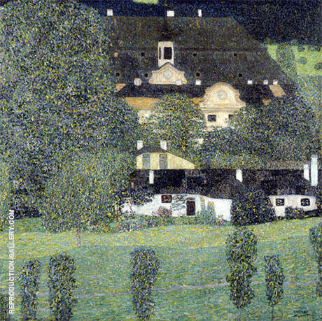 Schloss Kammer on the Attersee II 1909 By Gustav Klimt