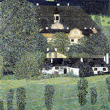 Schloss Kammer on the Attersee II 1909 By Gustav Klimt