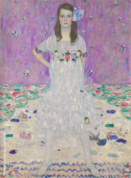Portrait of Mada Primavesi 1912 By Gustav Klimt - Oil Paintings & Art Reproductions - Reproduction Gallery
