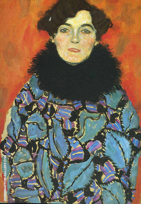 Portrait of Johanna Staude 1918 By Gustav Klimt - Oil Paintings & Art Reproductions - Reproduction Gallery