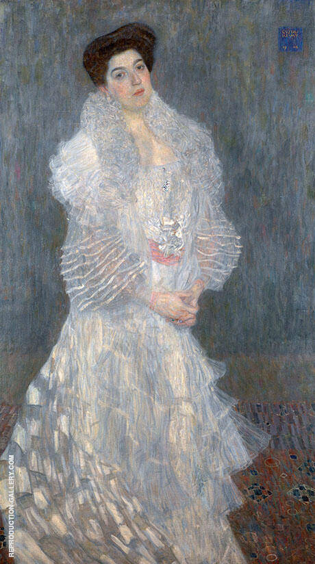 Portrait of Hermine Gallia c1903 By Gustav Klimt - Oil Paintings & Art Reproductions - Reproduction Gallery
