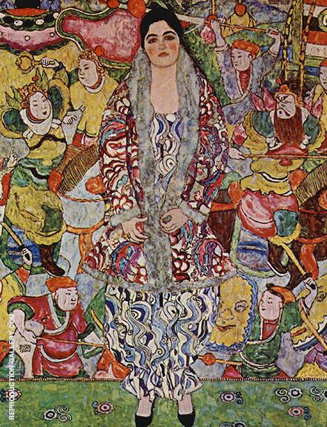 Portrait of Friederike Maria Beer 1916 By Gustav Klimt